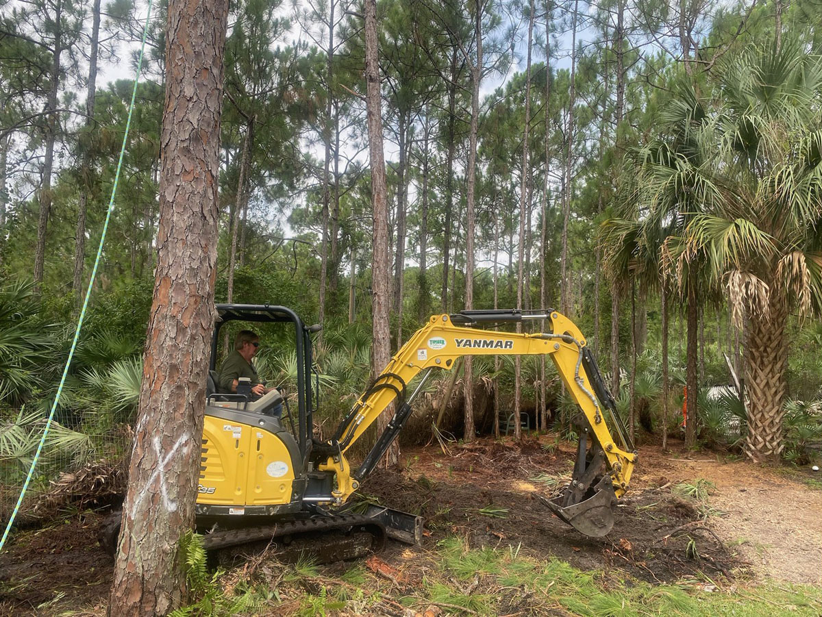 Clearing Land with Yanmar Loader